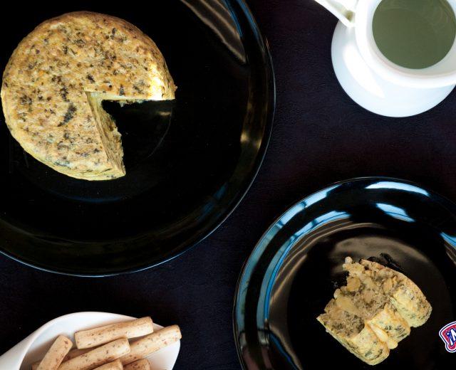 Tortilla de garbanzos y espinacas