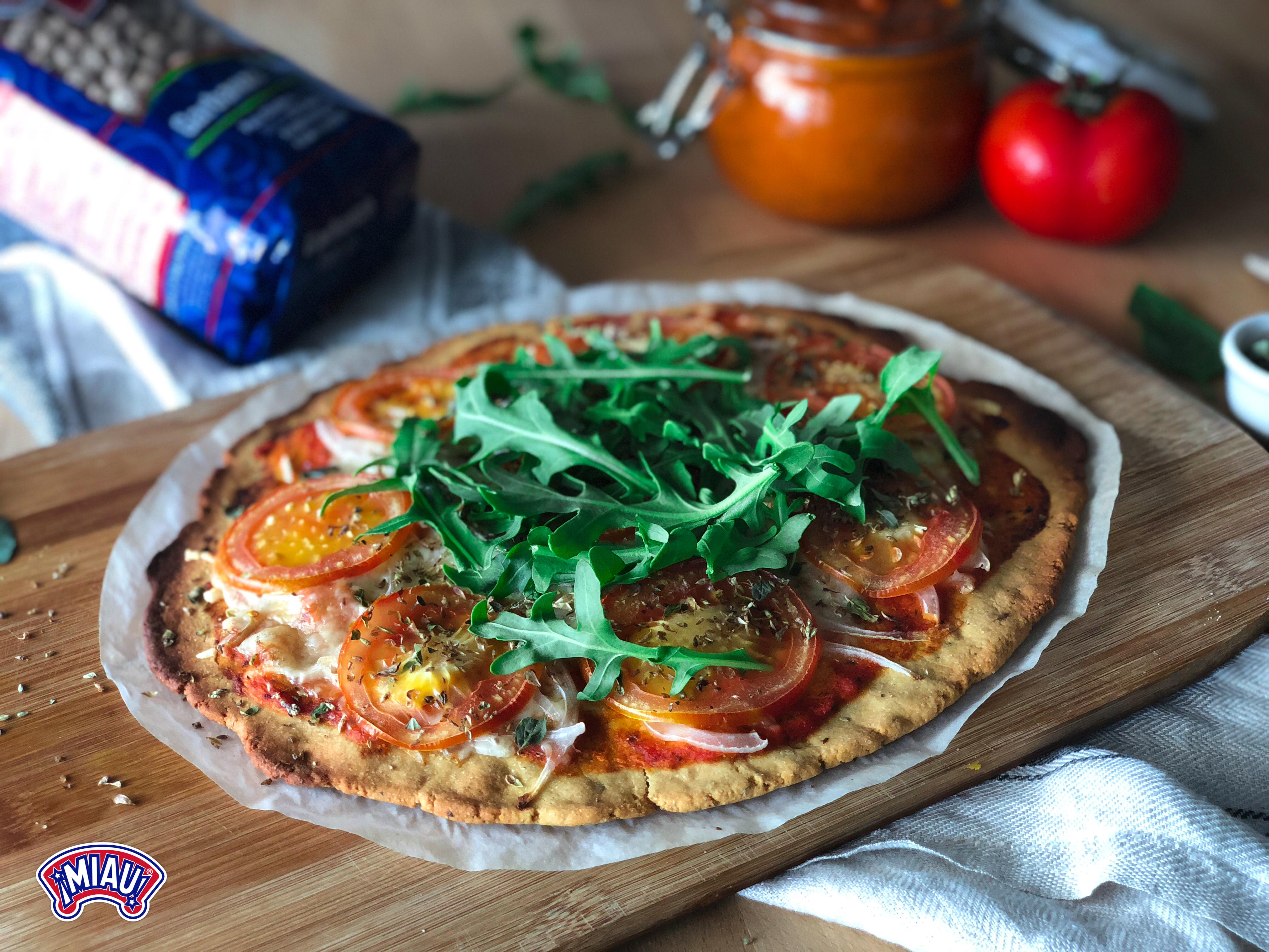 pizza harina garbanzos