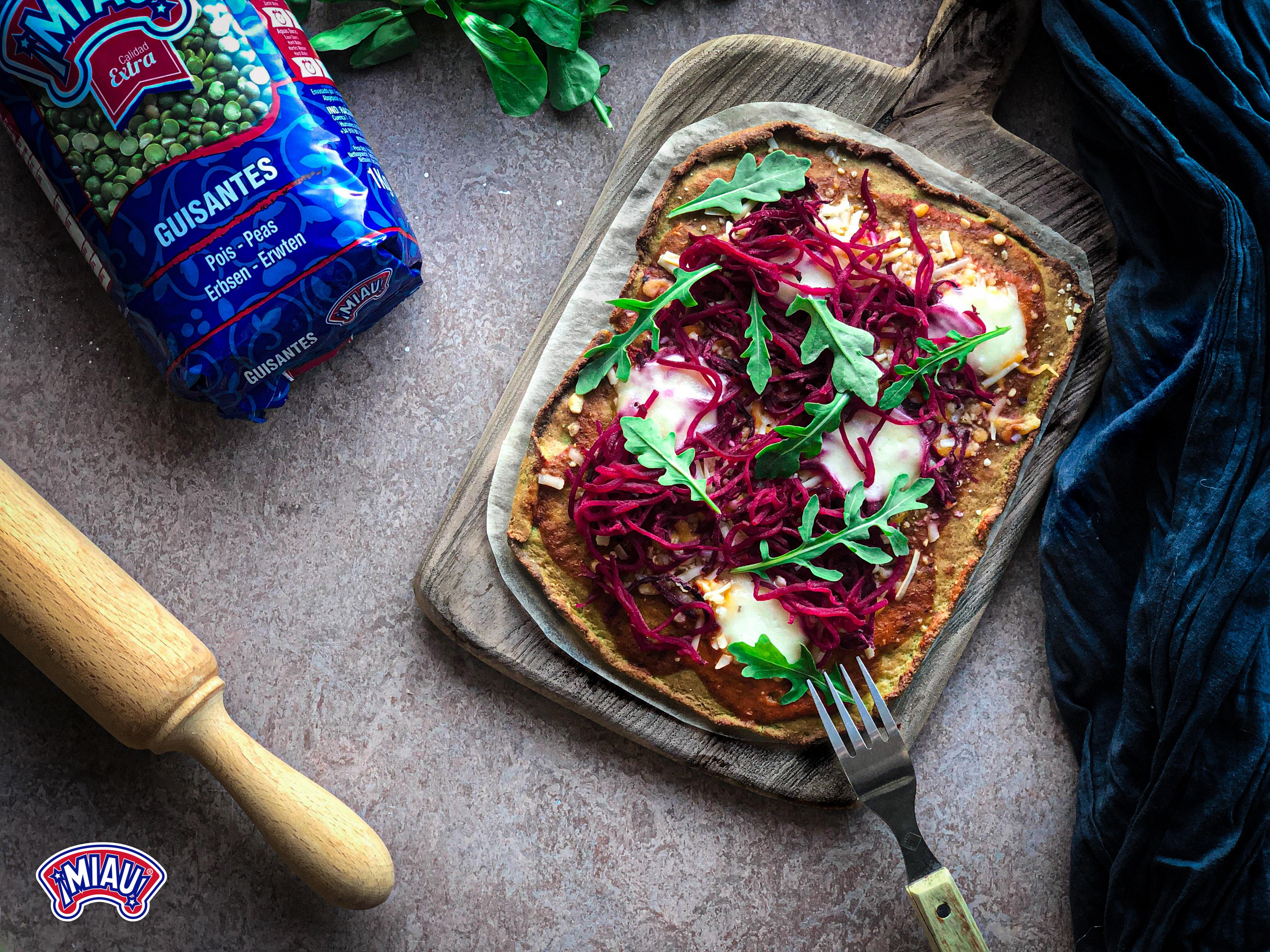 pizza harina de guisantes